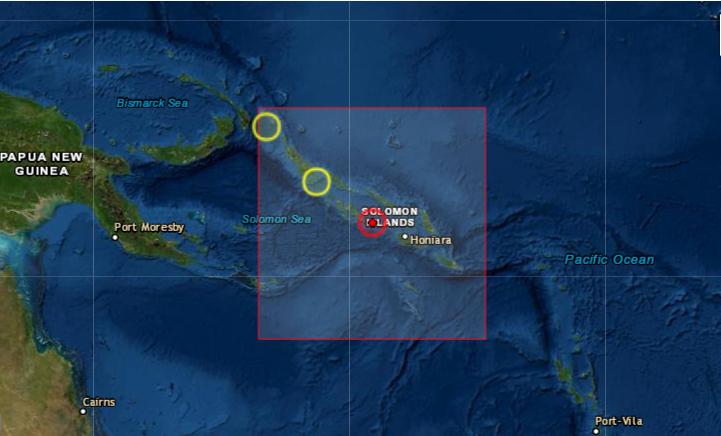 Terremoto de magnitud 6.4 sacude Islas Salomón, en el Pacífico Sur