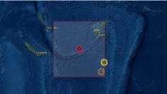 Sismo de magnitud 6.8 sacude el sureste de Vanuatu en el Pacífico Sur