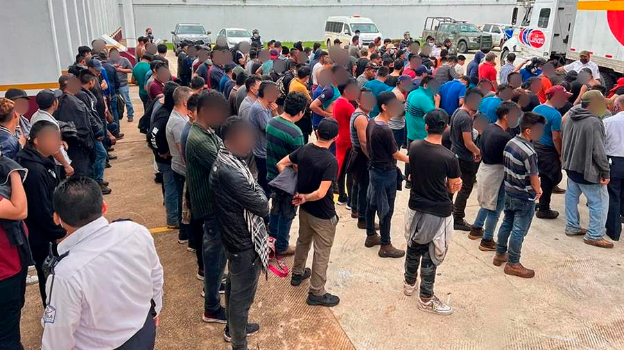 Rescatan a 334 migrantes en el estado mexicano de Veracruz