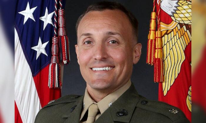 El teniente coronel Stuart Scheller en una fotografía de archivo. (Cuerpo de Marines de EE.UU.)