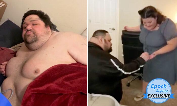 Hombre con obesidad que no podía salir de su cama, baja 260 lbs y se arrodilla para pedir matrimonio