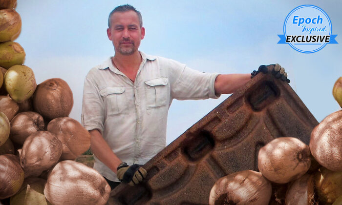 """Holandés usa cáscaras de coco para fabricar palets rentables y """"salvar millones de árboles"""" al año"""