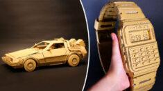 Artista japonesa transforma viejas cajas de cartón en increíbles esculturas