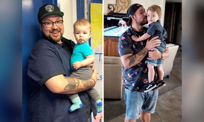 """Hombre con obesidad mórbida pierde 160 lbs por su hijo: """"Con 406 lbs, se necesita un cambio de vida"""""""
