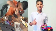 Venezolano de 14 años vende chanclas que él fabrica: ¡Perdió su último par y no podía comprar nuevas!