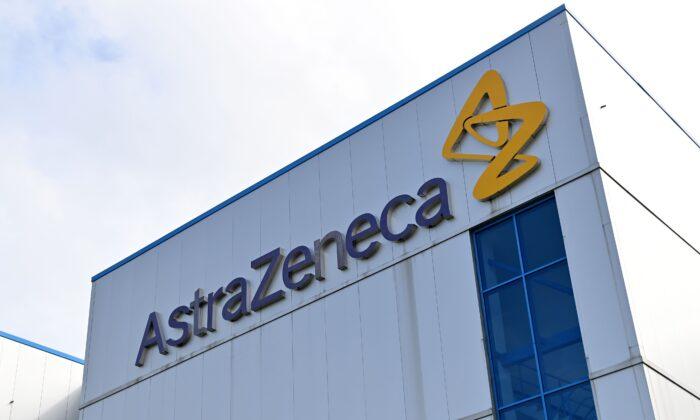 Una oficina de la multinacional farmacéutica y biofarmacéutica británica-sueca AstraZeneca en Cheshire, Inglaterra, en una fotografía de archivo. (Paul Ellis/AFP vía Getty Images)