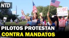 NTD Noticias: Personal de aerolíneas pide libertad médica; Voluntarios protegen a residentes en frontera