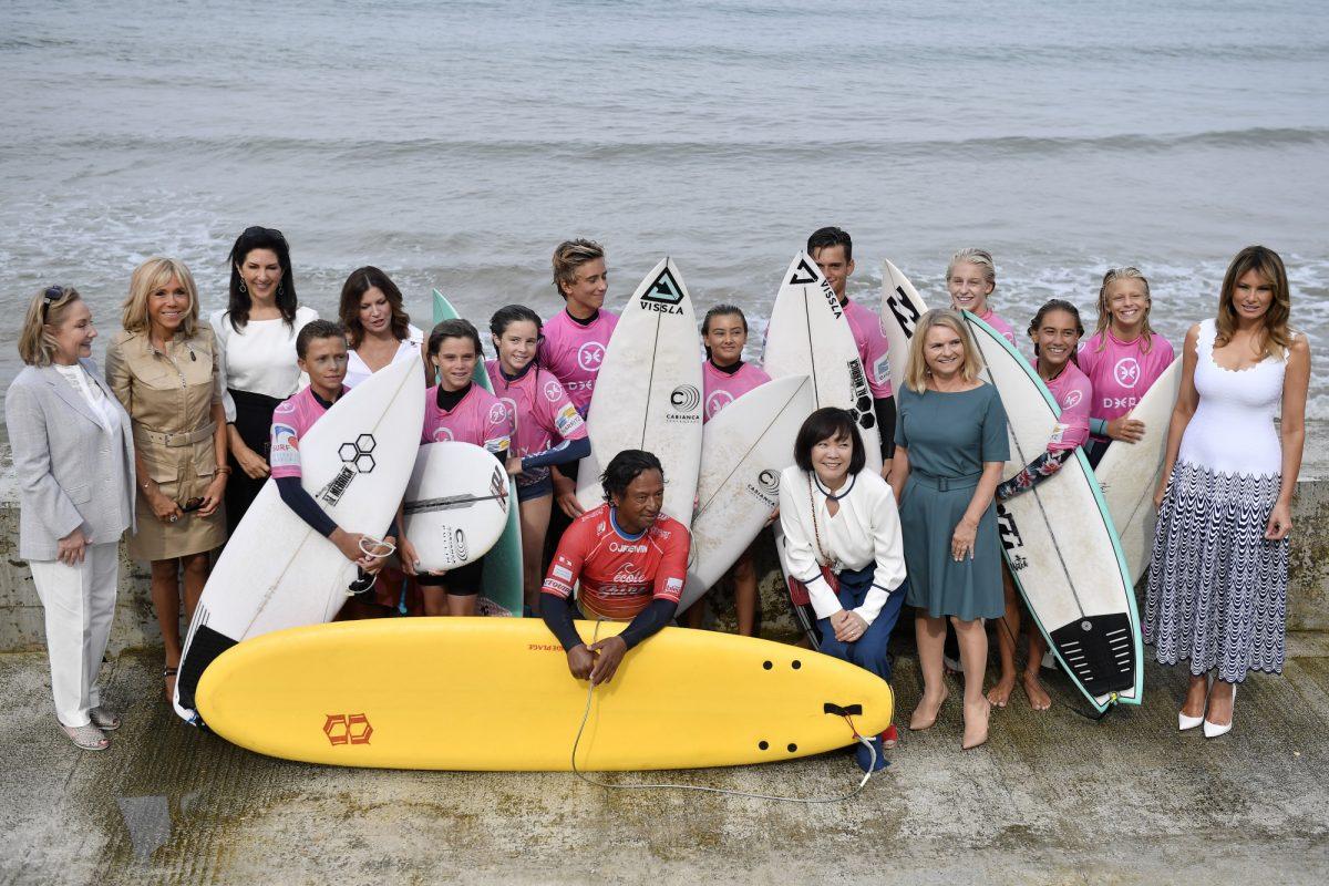 Melania Trump G7 spouses - surfers