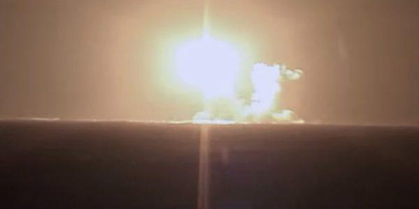 A Rússia lançou um míssil balístico intercontinental de um novo submarino movido a energia nuclear, disse o Ministério da Defesa, descrevendo-o como bem-sucedido (Crédito: Ministério da Defesa da Rússia)