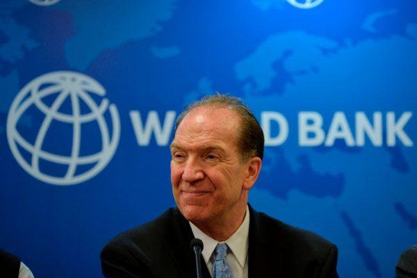El presidente del Banco Mundial, David Malpass, durante una conferencia de prensa en la oficina del Banco Mundial en Nueva Delhi, India, el 26 de octubre de 2019. (Sajjad Hussain/AFP a través de Getty Images)