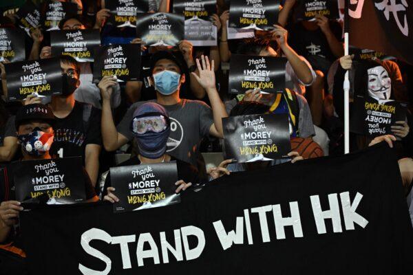 HONG KONG-US-CHINA-POLITICS-BASKET-NBA-UNREST