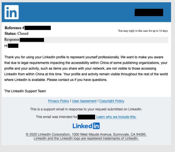 LinkedIn Message