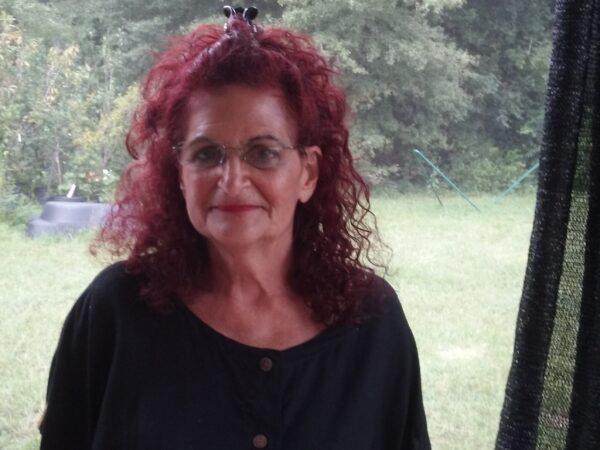 Karen Schoen at home in Flagler County Florida in 2017.