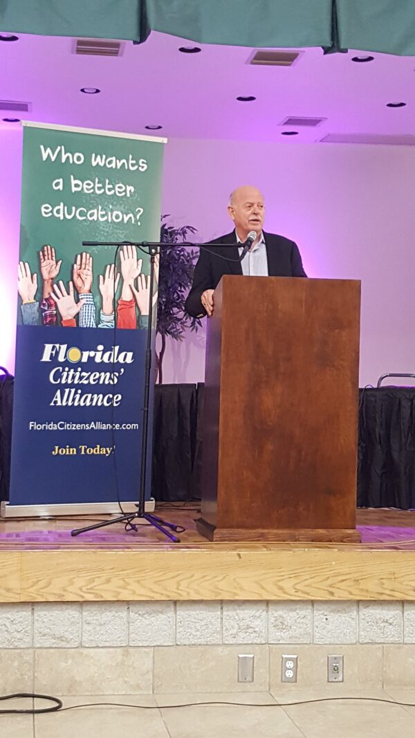 Keith Flaugh speaks at Florida Citizens Alliance Gala in Feb. 2020.